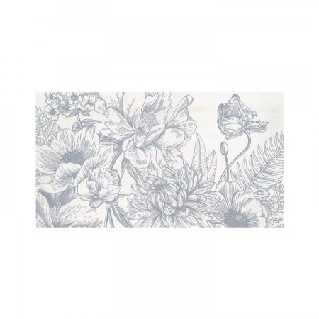 Cabecero decapado 'Flores vintage II'
