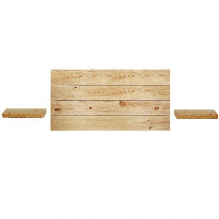 Pack de Cabecero horizontal y mesitas Hak olivo