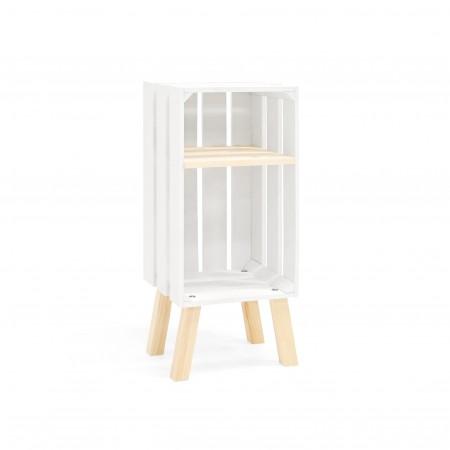 Mesita Box vertical blanca