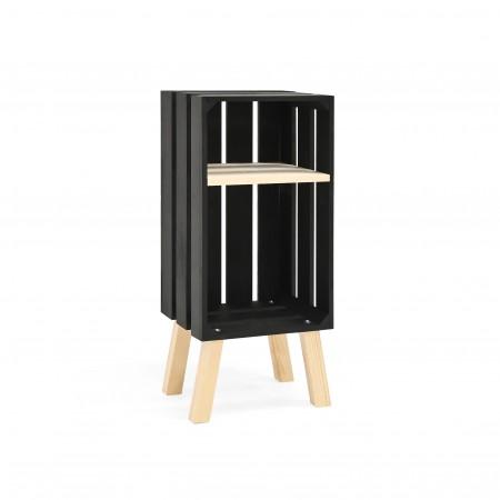 Mesita Box vertical negra