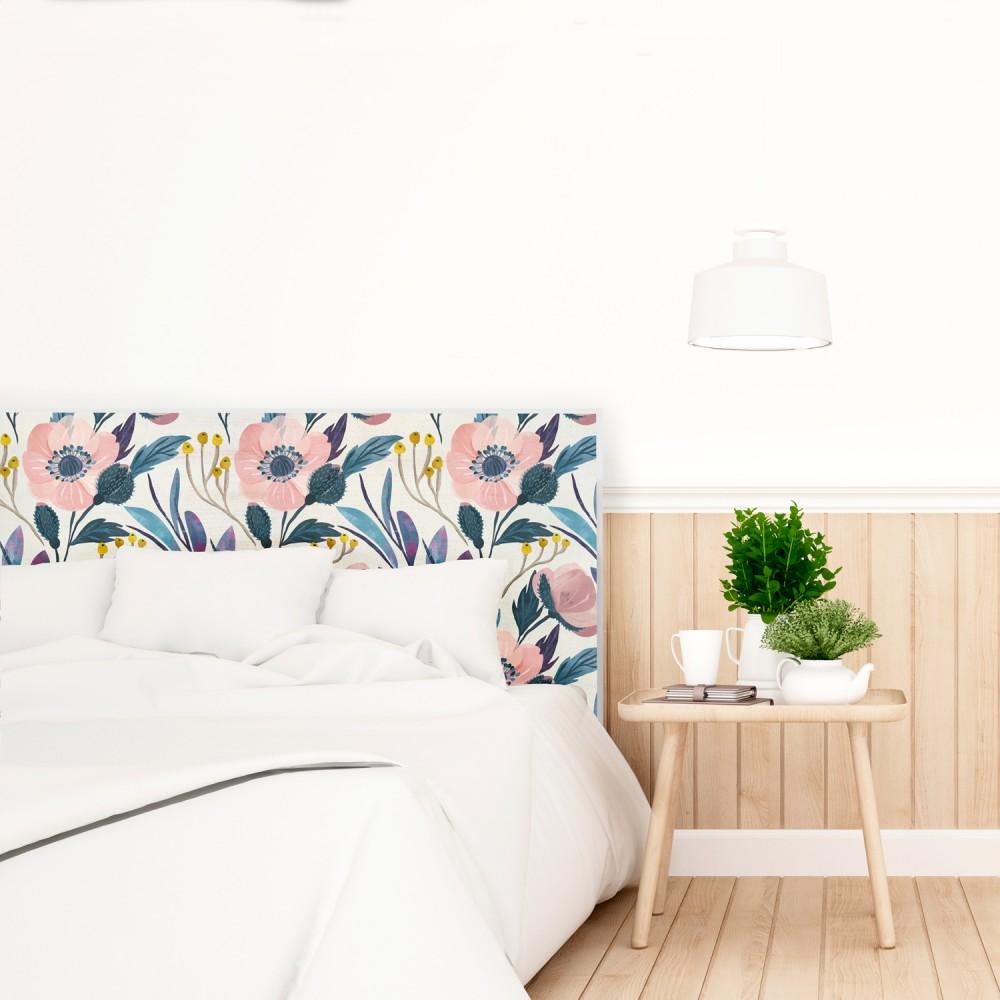 Cabeceros de madera modernos elegant matrimonio con madera piedra decoracion dormitorios - Cabeceros plateados ...