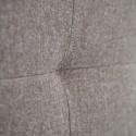 cabecero poliéster pliegues marrón