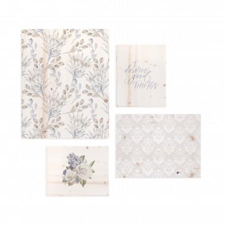 Pack de cuadros con motivos florales