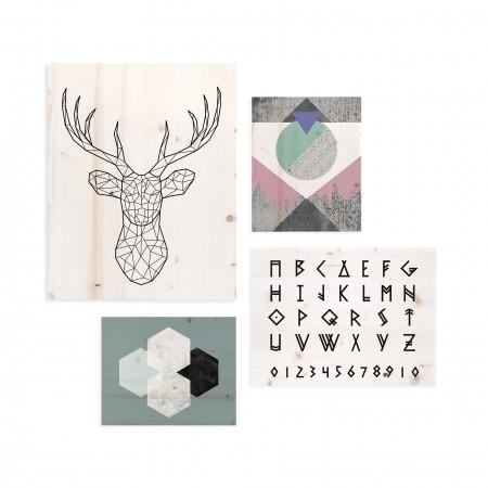 Pack de cuadros con motivos nórdicos
