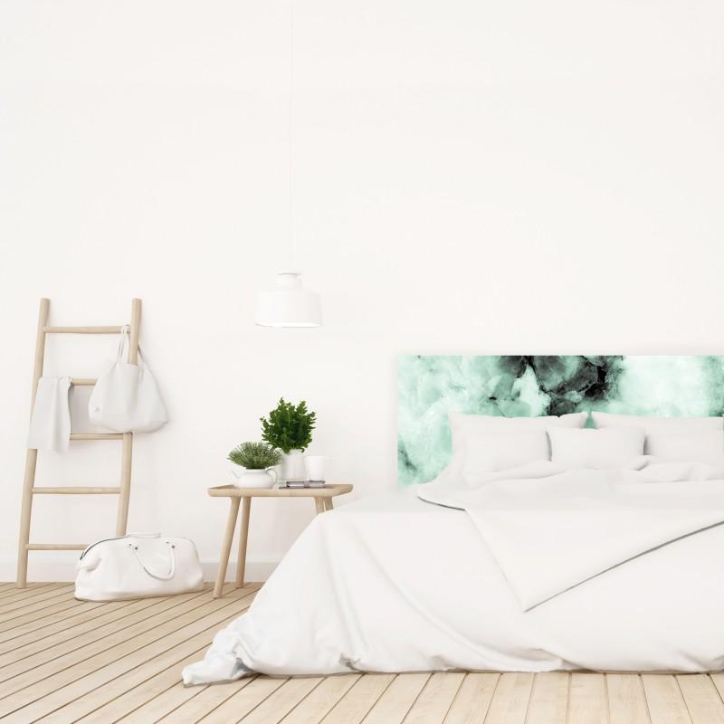 Cabecero verde mármol