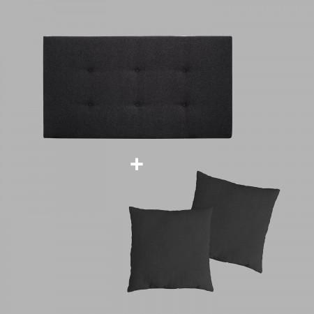 Pack tapizado botones negro