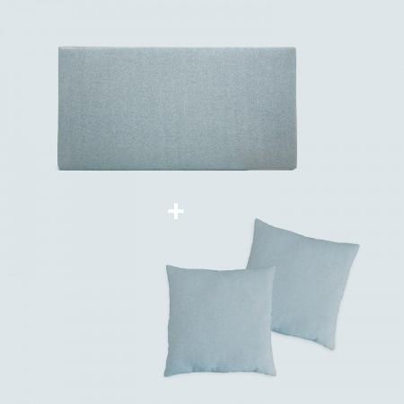 Pack tapizado liso verde azulado