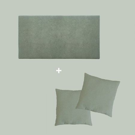 Pack tapizado liso verde