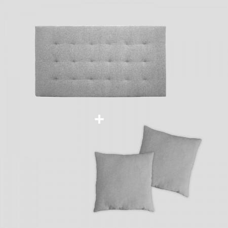 Pack tapizado pliegues gris