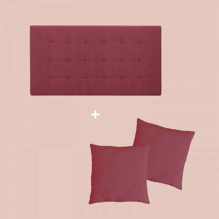 Pack tapizado pliegues granate