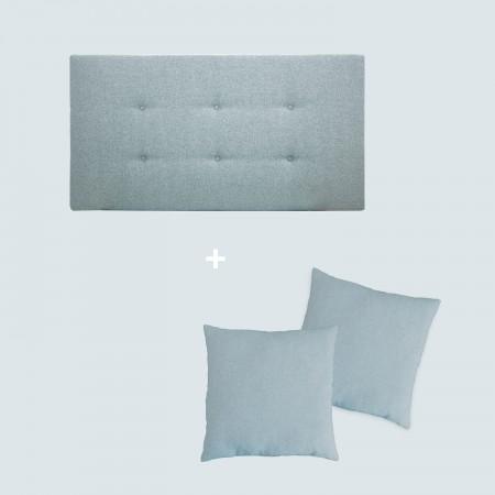 Pack tapizado botones azul