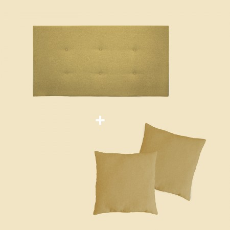 Pack tapizado botones mostaza