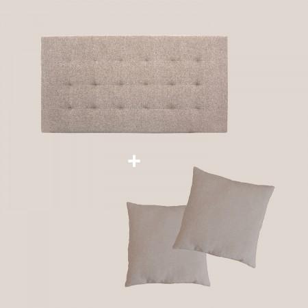 Pack tapizado pliegues marrón