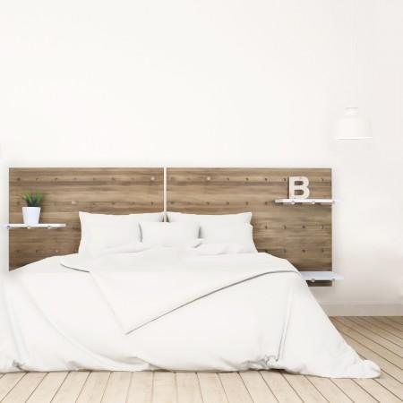 Cabecero de madera panel de accesorios