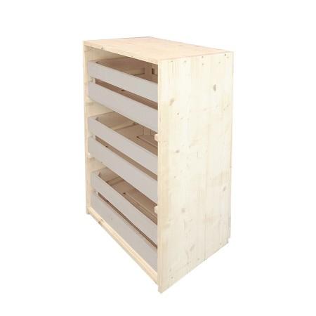 Cómoda cajas natural y beige