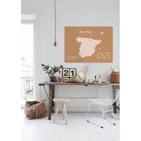 Corcho mapa de España blanco