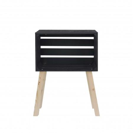 Mesita caja horizontal pintada negra