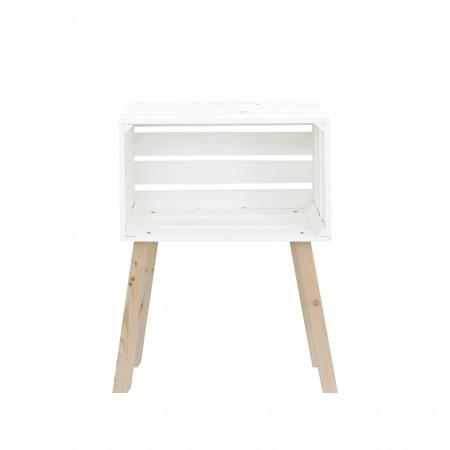 Mesita caja horizontal pintada blanca