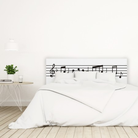 Cabecero blanco partitura musical