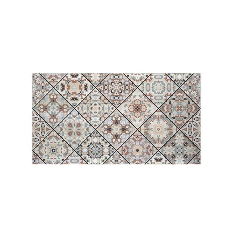 Cabecero blanco estampado mosaico vintage