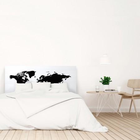 Cabecero blanco mapamundi