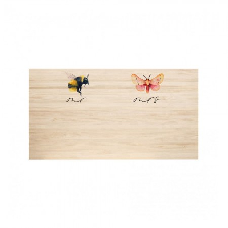 Cabecero de madera natural Bee & Butterfly