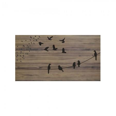 Cabecero envejecido pájaros