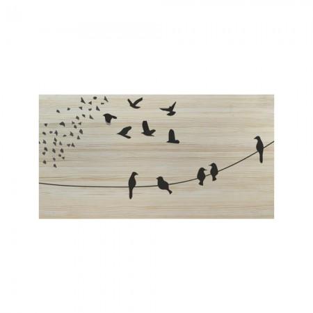 Cabecero natural pájaros