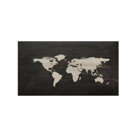 Cabecero mapamundi pizarra
