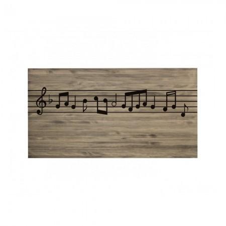 Cabecero envejecido partitura musical