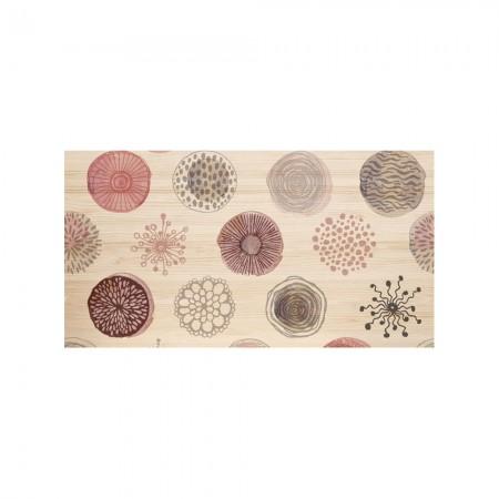 Cabecero natural 'Círculos abstractos rosa'