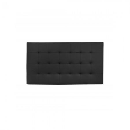 Cabecero Polipiel pliegues negro