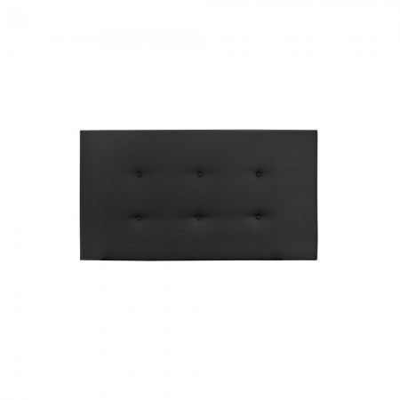 Cabecero Polipiel botones negro