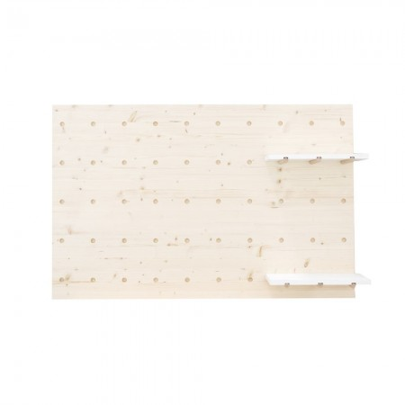 Cabecero individual de madera panel de accesorios