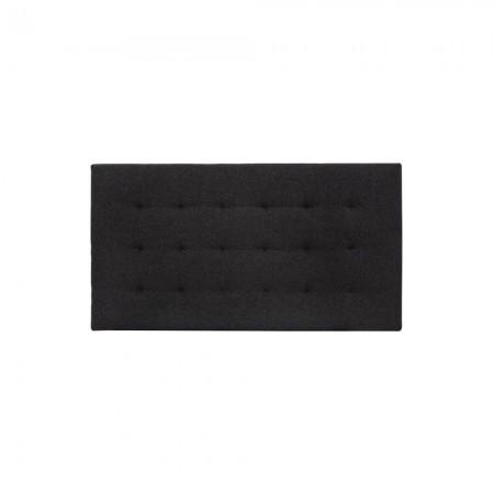 Cabecero poliéster pliegues negro