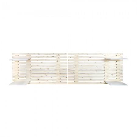 Cabecero de madera listones