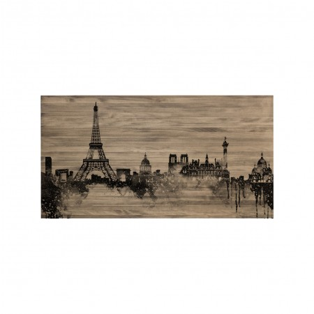 Cabecero envejecido  skyline París