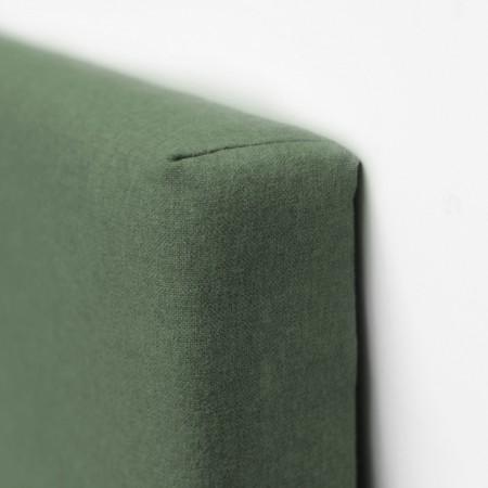 Cabecero Poliéster botones verde + banqueta