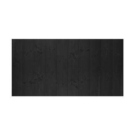 Cabecero vertical recto negro flandes