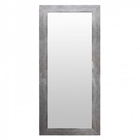 Espejo de madera plateado