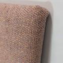 Cabecero tapizado Hoola botones naranja