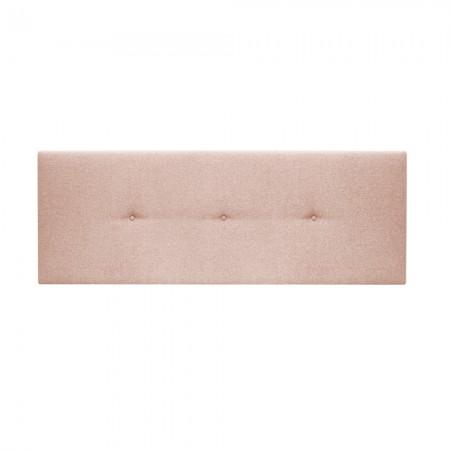 Cabecero tapizado Hoola botones rosa palo
