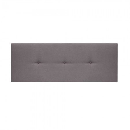 Cabecero tapizado Mimuk botones gris