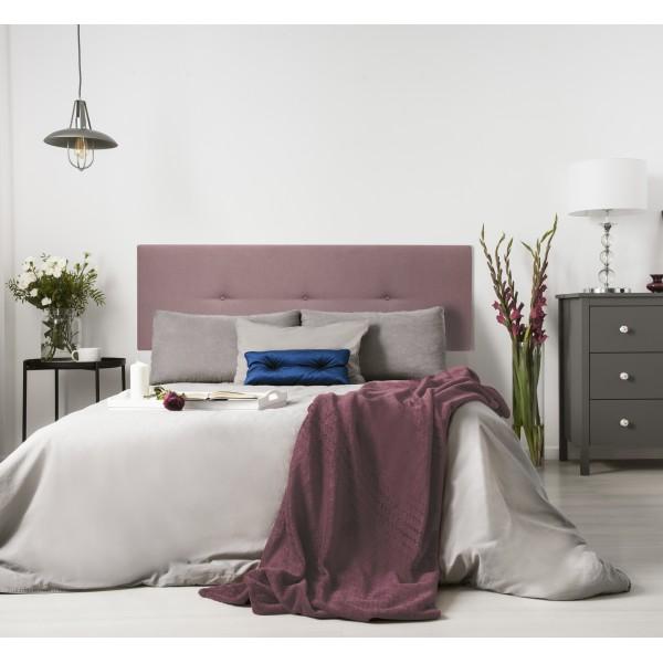 Cabecero tapizado Mimuk botones rosa