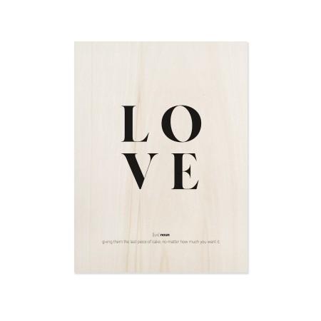 Cuadro de madera Love definition