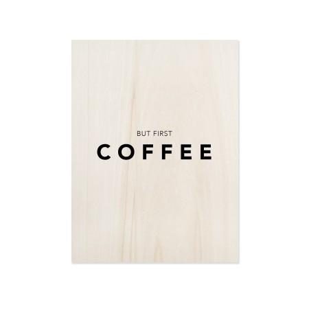 Cuadro de madera First Coffee
