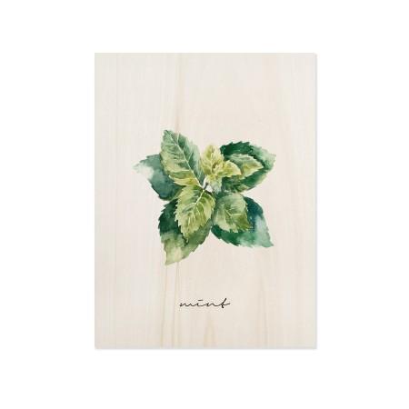 Cuadro de madera Mint