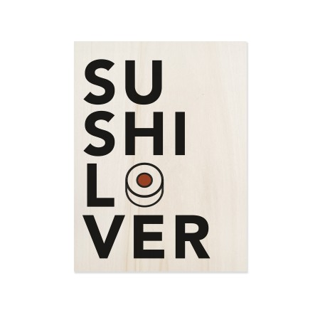 Cuadro de madera Sushi Lover