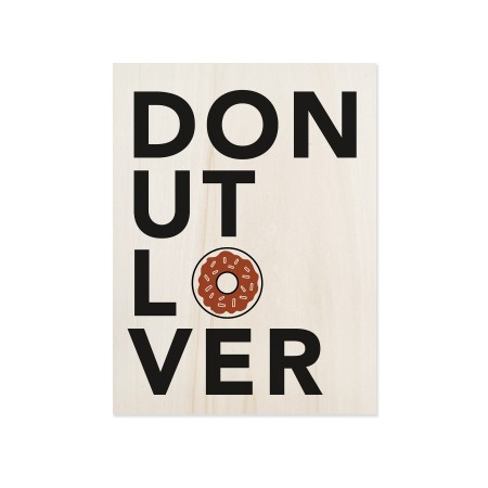 Cuadro de madera Donut Lover