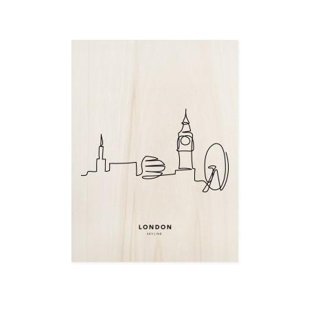 Cuadro de madera London Skyline